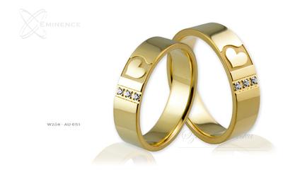 Obrączki ślubne - wzór Au-651