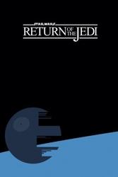 Star wars gwiezdne wojny powrót jedi - plakat premium