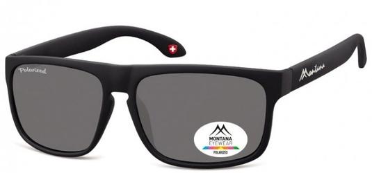 Klasyczne okulary montana mp37 czarne polaryzacyjne
