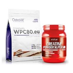 Wpc 80.eu standard 900 g + creatine powder - 500g