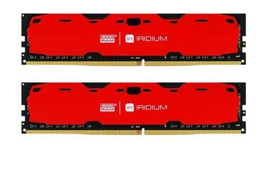 GOODRAM DDR4 IRIDIUM 8GB240024GB 15-15-15 5128 Czerwona