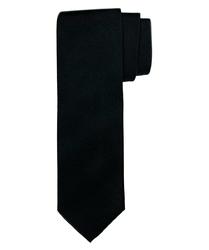 Czarny krawat jedwabny o skośnym splocie