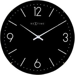 Zegar ścienny basic dome nextime 35 cm, czarny 3157 zw