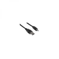 Kabel USB 2.0, USB A  M- 8 pin M, 1.8m, czarny, Logo, blistr, PANASONIC