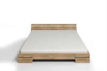 Łóżko drewniane bukowe skandica sparta niskie