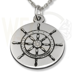 Zestaw srebrny wisiorek ster-1 z łańcuszkiem ankrą.