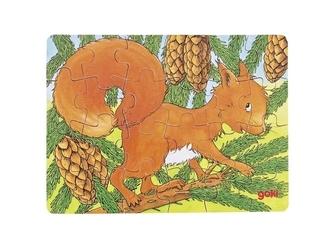Wiewiórka drewniane puzzle 24 el.