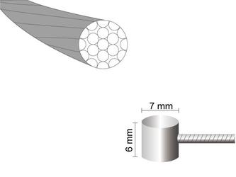 Linka hamulca mars one 1,5 x 1700mm stal nierdzewna -nypel 76