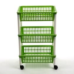 Regał 3 półkowy na kółkach  półki  szafka tontarelli zielony