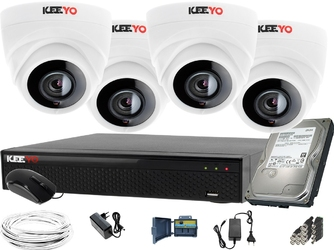 Zestaw do monitoringu: rejestrator lv-xvr84se-ii + 4x lv-al2m2hpdwh  + dysk 1tb + akcesoria
