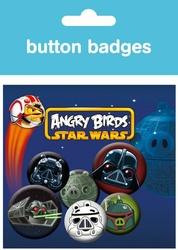 Angry Birds Star Wars Empire - zestaw 6 przypinek
