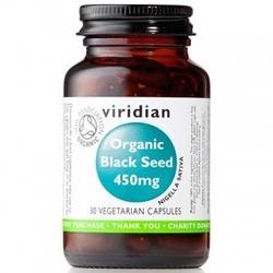 Organic black seed – ekologiczna czarnuszka 450 mg  30 kapsułek suplement diety viridian