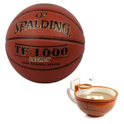 Piłka do koszykówki spalding tf-1000 legacy + koszykarski kubek nba maxis