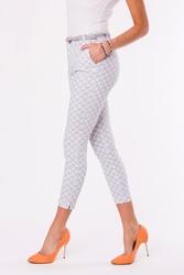Spodnie+pasek -szary 48012-1