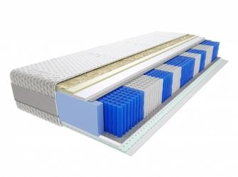 Materac kieszeniowy Wati Multipocket 70x210 cm Średnio twardy Lateks Visco Memory