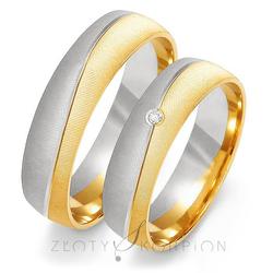 Obrączki ślubne Złoty Skorpion – wzór Au-OE190