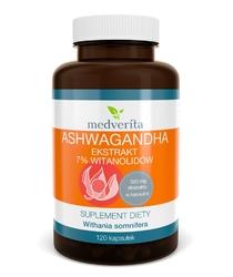 ASHWAGANDHA ekstrakt 7 witanolidów - 120 kapsułek
