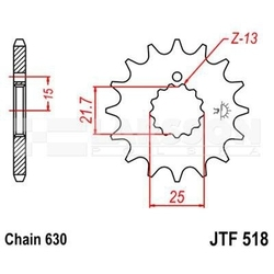 Zębatka przednia jt 15z, rozmiar 630 z podkładkami 2200183 suzuki gsx 750, gsx 1100