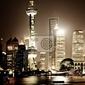 Obraz scena nocy szanghaju