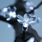 Lampki solarne 50 led joylight w kształcie kwiatków, zimne białe