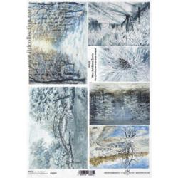 Papier ryżowy ITD A4 R1229 zimowy pejzaż