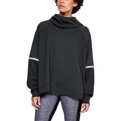 Bluza damska under armour unstoppable double knit os hoodie - czarny