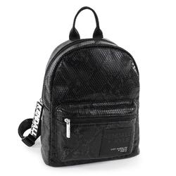 Plecak damski kendall+kylie sam medium backpack black snake - czarny