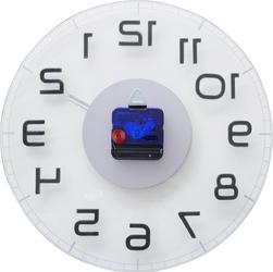 Okrągły zegar ścienny classy nextime 30 cm, transparentny 8817 tr