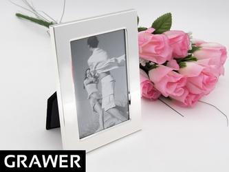 Ramka na zdjęcie posrebrzana 9 x13 prezent grawer