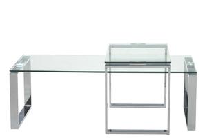 Dwuczęściowy zestaw stolików katia szkło