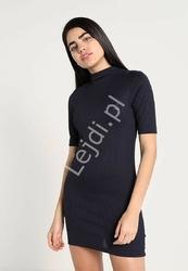 Granatowa sukienka sportowa z jerseyu - adidas