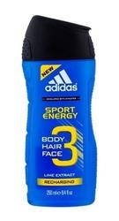Adidas 3in1 sport energy perfumy męskie - żel pod prysznic 250ml
