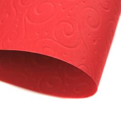 Papier ozdobny wytłaczany 220 g czerwony A4 - CZE