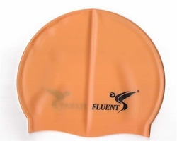 Czepek silikonowy fluent pomarańczowy