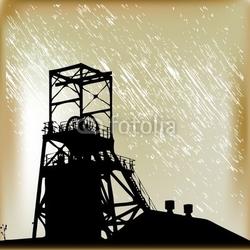 Obraz na płótnie canvas trzyczęściowy tryptyk kopalnia węgla