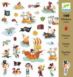 Zestaw pojedynczych naklejek - Piraci
