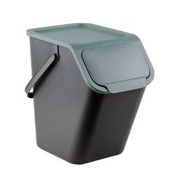 Kosz na śmieci do segregacji practic bini 25 l zielony