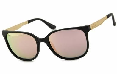 Damskie okulary polaryzacyjne czarne + różowe lustro v-167