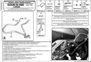 Kappa kn46 osłony silnika suzuki klv 1000 04  09