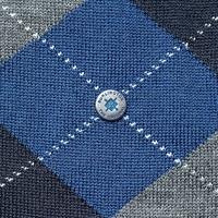 Stylowe niebieskie skarpety burlington edinburgh w szary wzór argyle rozmiar 40-46