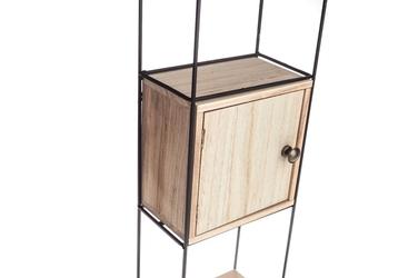 Regał metalowy loft z szafką 60.5 x 20.5 cm