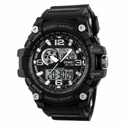 ZEGAREK MĘSKI sport SKMEI 1283 LED black - BLACK