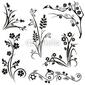Obraz na płótnie canvas dwuczęściowy dyptyk japońskie wzory kwiatowe