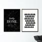 Zestaw dwóch plakatów - modern home , wymiary - 50cm x 70cm 2 sztuki, kolor ramki - biały