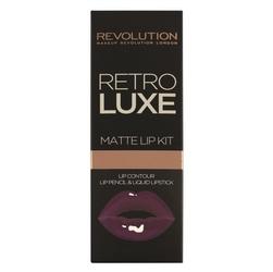 Makeup revolution retro luxe matte lip kits zestaw do ust konturówka +błyszczyk royal