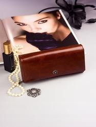Pojemny portfel damski brązowy px24-2 - brązowy
