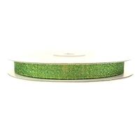 Wstążka brokatowa 12 mm 32 m - zielona - ziel