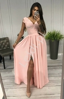 Cukierkowo różowa sukienka wieczorowa chantell