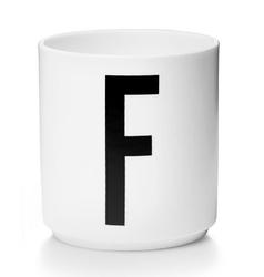 Kubek porcelanowy AJ litera F