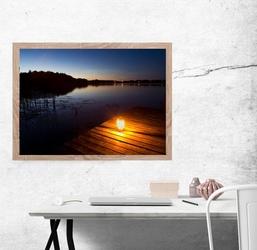 Sokoły jeziorne, jezioro borowe - plakat premium wymiar do wyboru: 59,4x42 cm